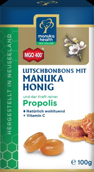 Manuka Health Lutschbonbons mit Propolis und Manuka Honig MGO 400+ 100g