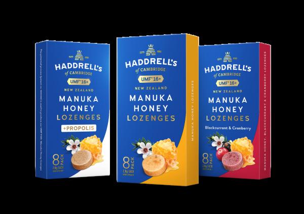 Haddrell's Manuka Honig Lutschbonbons 3er Pack UMF 16+ (MGO 550+)