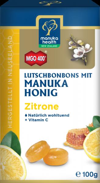 Manuka Health Lutschbonbons Zitrone und Manuka Honig MGO 400+ 100g