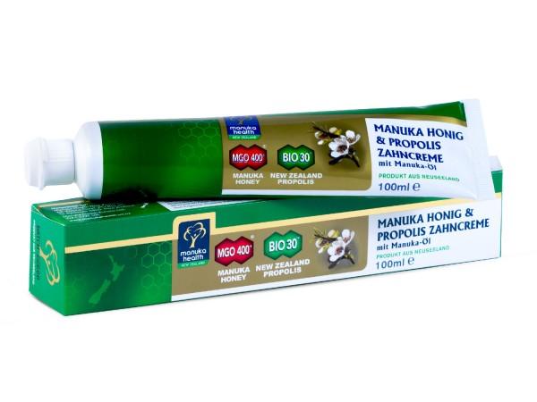 Manuka Health Zahncreme mit Manuka Honig MGO 400+, Propolis und Manuka-Öl 100ml