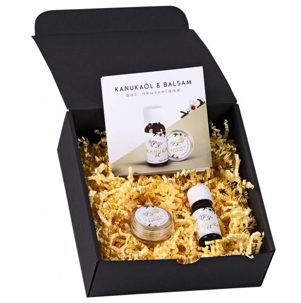Kanuka Geschenkset mit Kanukaöl 10ml + Kanuka Balsam 13g Geschenkverpackung