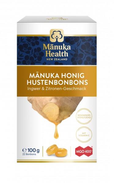 Manuka Health Lutschbonbons Ingwer Zitrone und Manuka Honig MGO 400+ 100 g