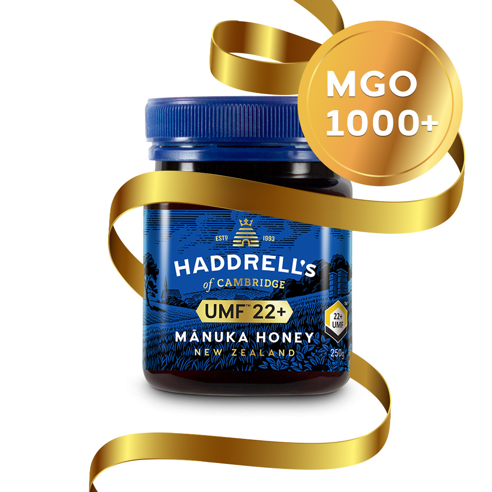 Haddrell's Manuka Honig MGO 1000+ (UMF 22+) in Geschenkbox 250g - Limited Edition