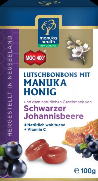 Manuka Health Lutschbonbons Schwarze Johannisbeere und Manuka Honig MGO 400+ 100 g
